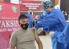 Personil dan PNS Polres Tomohon Jalani Vaksinasi Sinovac Biofarma