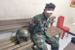 Personil Koramil 1302-12/Belang Bekuk Oknum TNI Gadungan di Ratatotok