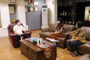 Terima Audiensi PT Garuda Indonesia dan BRI Manado, Ini Harapan Andrei Angouw