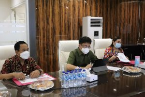 Via Vidcon, Angouw Ikut FGD Visitasi Pelatihan Kepemimpinan Nasional Tingkat Dua