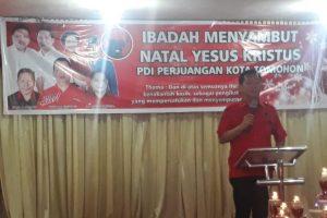PDI Perjuangan Kota Tomohon Gelar Rakercab dan Ibadah Pra Natal