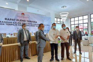 CSWL Resmi Ditetapkan KPU sebagai Paslon Wali Kota – Wakil Wali Kota Tomohon Terpilih