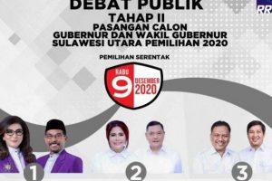 Debat Pilgub Sulut Tahap II  Sajikan Panorama Demam Panggung, Belajar Menari dan Ketenangan