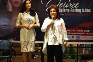 Siap Raih Hasil Terbaik di Ajang Putri Indonesia, Desiree Magdalena Roring Minta Restu Seluruh Mayarakat Sulut
