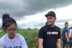 KNPI MInahasa Turun Danau Tondano Angkat Eceng Gondok
