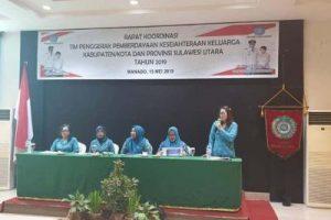 Rakor Kab/Kota dan Provinsi, Martina Lengkong Paparka Program Prioritas TP PKK Minahasa