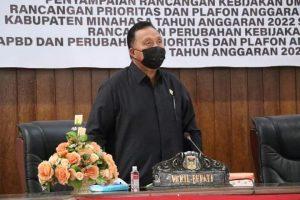 Wabup RD Hadiri Paripurna Penyampaian RKU – PPAS APBD 2022
