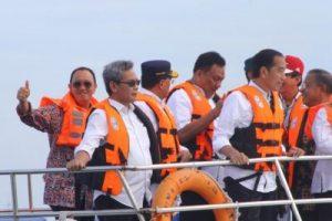 Bupati Roring Dampingi Presiden dan Ibu Negara Menuju Bunaken