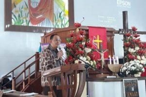 ROR Ikut Ibadah Hari Raya Kenaikan Yesus Kristus di GMIM Moria Sasaran