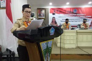 Vanda Sarundajang kembali Terpilih sebagai Ketua Kwarda Gerakan Pramuka Sulut