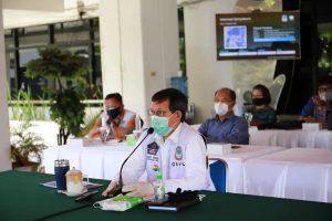 Lumentut Ikuti Kegiatan Monev Program Pencegahan Korupsi dan Penanganan Covid-19 Bersama KPK RI