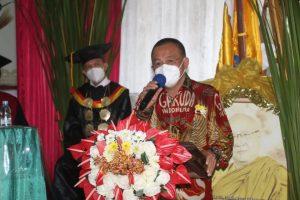 Wawali Tomohon Hadiri Pelantikan Rektor Unsrit